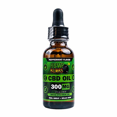 Hempbombs 300mg oil bottle