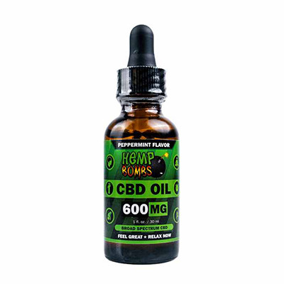 Hempbombs 600mg oil bottle