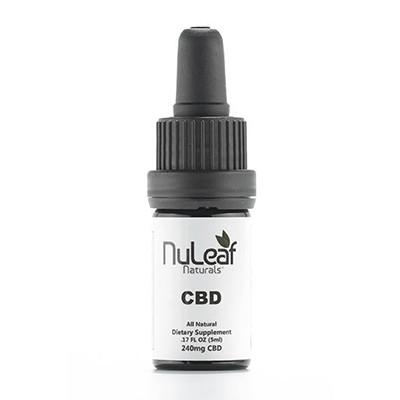 Nuleaf Naturals 240mg oil bottle